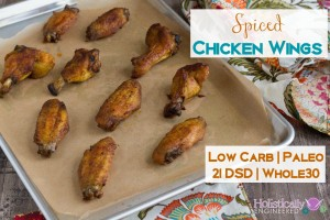 Spiced Chicken Wings (Low Carb and Paleo)