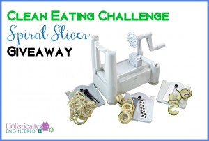 Clean Eating Challenge Giveaway: Spiral Slicer