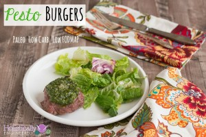 Pesto Burgers (Paleo, Low Carb, and Low FODMAP)
