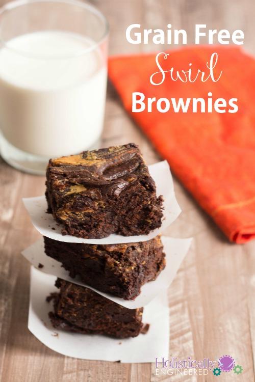 Grain Free Paleo Brownies_swirl