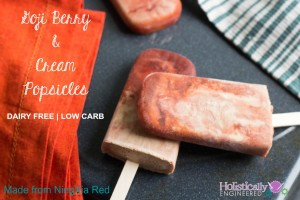 Goji Berry and Cream Popsicles (Low Carb and Dairy Free)