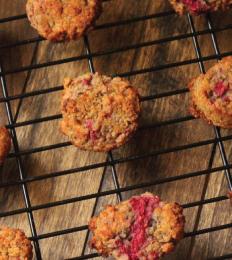 Raspberry Breakfast Cookies