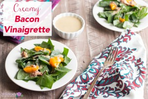 Creamy Bacon Vinaigrette (Low Carb and Dairy Free Option)