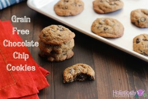 Grain Free Chocolate Chip Cookies (Paleo)